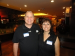 A great looking couple but they`re not a couple! That`s Mike Lepore and Tracy Losey Marshall.
