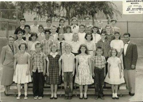 Annandale Elementary School. Mr. Shambra's 5th Grade Class. May 1955. Photo courtesy of Kathy (Johnson) Friend. Front R