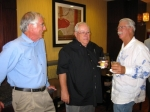 Gary Anslyn, Dave Lindsey, and Art Couvillon (W'62) sharing a laugh.