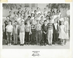 Annandale Elementary School. Mr. Raikes' 6th Grade Class. April 1956. Photo courtesy of Elaine O'Connell. Fron