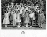 Yorkdale Elementary. Mrs. Weihert's B5 and A5 Class. May 1955. Bottom Row, left to right: Dee Macias, Unidentified,