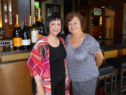 Mercy Roman and Patirica Neri meeting for lunch. May, 2014