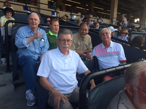 A Day at the Races. Bill Tennis, Bob LaClair, Mitch Mulino, Dennis Hubbard, and Manuel Rangel at Del Mar Racetrack on Au